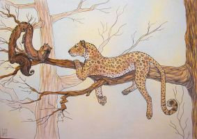 A marten and a panther by RavenLou
