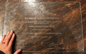 My Degree Cut into Glass by Nortiker