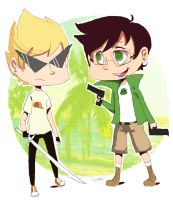 Strider and English Chibi's by FluffySora