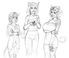 Atrix, Kikata, and Prila by berggie