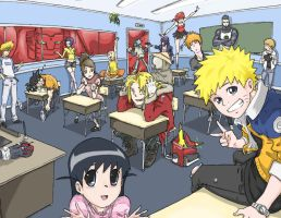 Anime School by HellWingz
