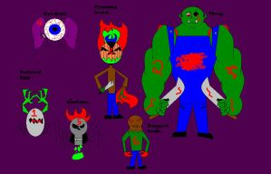 The main five Monster Crew. by SlimJim9274