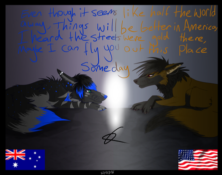 Things will be better in America by EnchantedDoveWolf