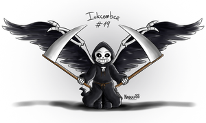 Inkcember 19 - Reaper!Sans by Nabuco88