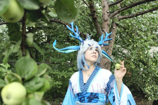 Blue deer 2 by Youngdemon