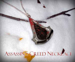Assassin's Creed - Blood Stained Logo Necklace by YellerCrakka