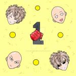 One punch man Pattern-yellow (Also avail. in blue) by DonivanessDoodles