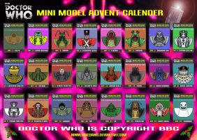 Doctor Who - Mini Model Advent Calender by mikedaws