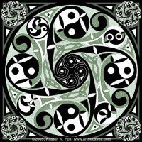 Celtic Spiral Stepping Stone by foxvox