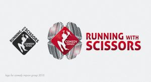 Running with scissors - comedy improv logo by RGDart