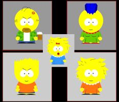 Simpsons gone South Park by WibSkelDS9
