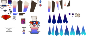 Paper Mario HD Sprite Sheet: Count Bleck by Fawfulthegreat64