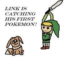 Link is catching a Pokemon! by lolcats313