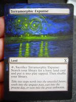 Magic Card Alteration: Terramorphic Expanse 10-30 by Ondal-the-Fool