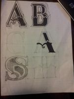 a-b-cash lettering by benjamingon
