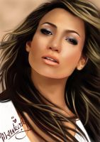 Digital Potrait-J.LO by MeerKaty