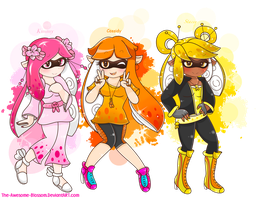 .:Inkling Girls:. by The-Awesome-Blossom