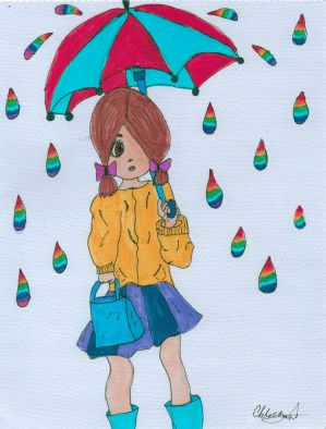 Waiting in the Rain by Yumikio-Natsuki-Yoko