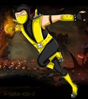 + Scorpion + (My Costume Style XD) - by PrincessNetherrealm