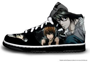 DEATH NOTE SHOE~~ by Claddle