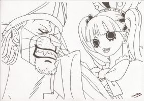 Absalom and Perona Lineart by simsim2212