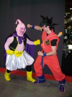 Majinboo and Goku by emylee
