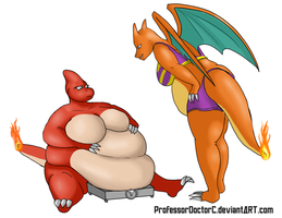 COMMISSION: Charmeleon - Charizard WG part 5 of 8 by ProfessorDoctorC