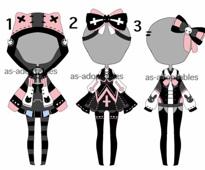 pastel goth outift adoptables CLOSED by AS-Adoptables