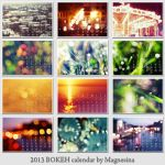 Bokeh Moments 2013 calendar by magnesina