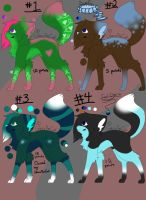 Adoptables Batch!!!! OPEN 1 LEFT by GlaceTheCat
