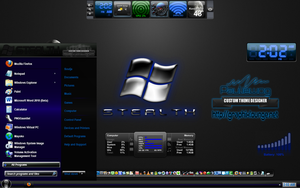 Stealth Blue Windows 7 Theme by pauliewog260