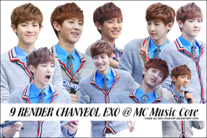 9 RENDER CHANYEOL EXO @ MC Music Core by IAM-MUPMIP
