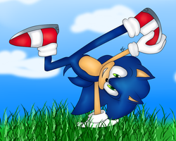 Sonic The Hedgehog by LokaExpresivaxDD