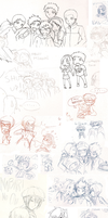 AWESOME SKETCHDUMP OF AWESOME1 by dAurelie