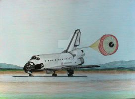 space shuttle by 01mark