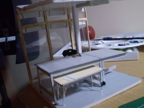 Scale model of studio by squiggly-weeble
