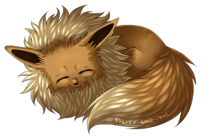 Sleepy Eevee by Freaky--Like--Vivi