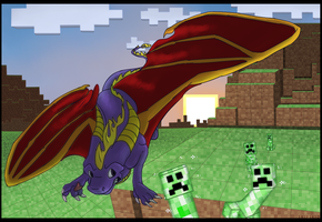 Spyro does Minecraft by SkipSkid