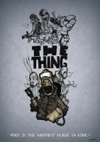 Sketchy Poster - THE THING by Strelok1917