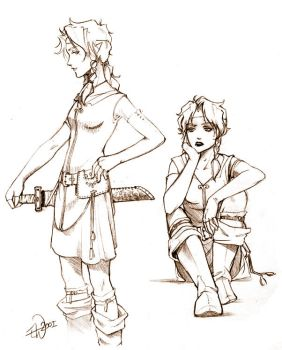 Safira Charactersketches by boudicca