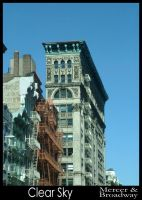 Clear Sky: Mercer and Broadway by mimeryme