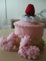 Strawberry shortcake valentine by CakeFruit