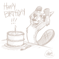 Happy Birthday Secoh2000! by SharpDressedReptile