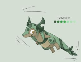 Fakemon- Vineroo by DevilDman