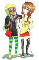 Me and my friend by nay-only