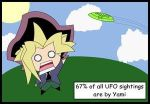 Yami: OMG IT'S AN ALIEN O-O by The-Short-Ones