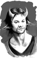 Sam as Lucifer by Aquila--Audax