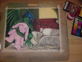Cthulhu Naps - Work In Progress by SpectralPony