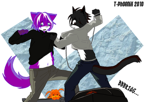 Death Note Cat Fight by Heliotrope-Housecat