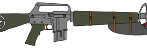 Sarge's-Soldier's Super survival rifle by southernstarrpony